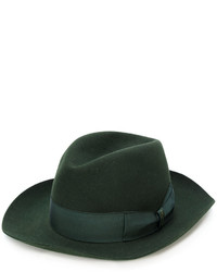 dunkelgrüner Wollhut von Borsalino