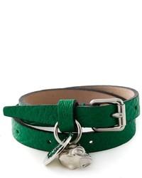 dunkelgrünes Armband von Alexander McQueen