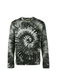 dunkelgrünes bedrucktes Sweatshirt