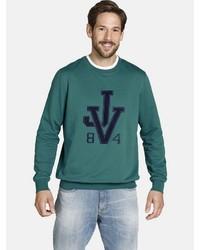 dunkelgrünes bedrucktes Sweatshirt von Jan Vanderstorm