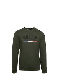 dunkelgrünes bedrucktes Sweatshirt von Palladium