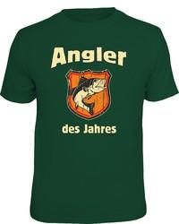 dunkelgrünes bedrucktes T-Shirt mit einem Rundhalsausschnitt von RAHMENLOS