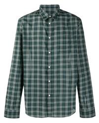 dunkelgrünes Businesshemd mit Schottenmuster von Kenzo