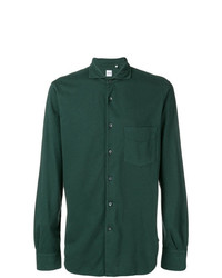 dunkelgrünes Businesshemd von Aspesi