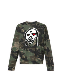 dunkelgrünes Camouflage Sweatshirt
