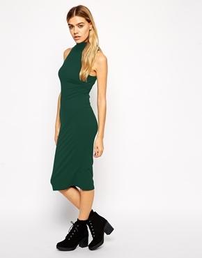 650ab549466f dunkelgrünes figurbetontes Kleid von Asos   Wo zu kaufen und wie zu ...