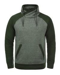 dunkelgrünes Fleece-Sweatshirt von Jack & Jones