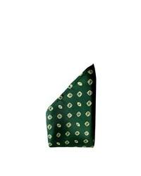dunkelgrünes gepunktetes Einstecktuch