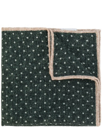 dunkelgrünes gepunktetes Wolleinstecktuch von Eleventy