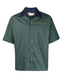 dunkelgrünes Kurzarmhemd von Marni