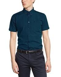 dunkelgrünes Kurzarmhemd von Merc of London