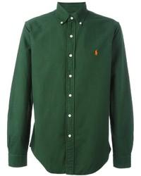 dunkelgrünes Langarmhemd