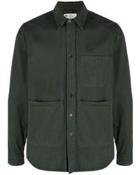 dunkelgrünes Langarmhemd von Aspesi