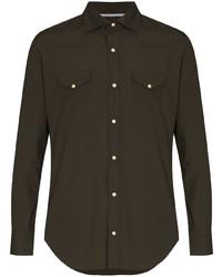 dunkelgrünes Langarmhemd von Eleventy