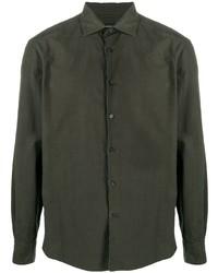 dunkelgrünes Langarmhemd von Ermenegildo Zegna