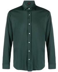 dunkelgrünes Langarmhemd von Mp Massimo Piombo