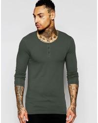 dunkelgrünes Langarmshirt