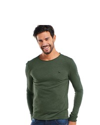 dunkelgrünes Langarmshirt von EMILIO ADANI
