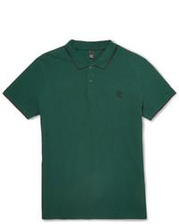 dunkelgrünes Polohemd