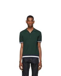 dunkelgrünes Polohemd von Moncler