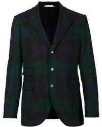 dunkelgrünes Sakko mit Schottenmuster