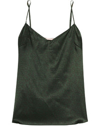 dunkelgrünes Seide Trägershirt