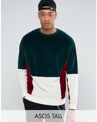 dunkelgrünes Sweatshirt von Asos