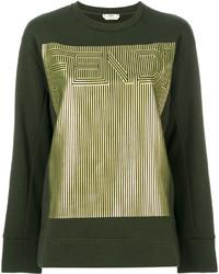 dunkelgrünes Sweatshirt von Fendi