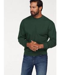 dunkelgrünes Sweatshirt von Fruit of the Loom