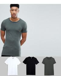 dunkelgrünes T-Shirt mit einem Rundhalsausschnitt von ASOS DESIGN