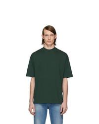 dunkelgrünes T-Shirt mit einem Rundhalsausschnitt von Balenciaga