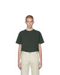 dunkelgrünes T-Shirt mit einem Rundhalsausschnitt von Bottega Veneta