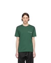 dunkelgrünes T-Shirt mit einem Rundhalsausschnitt von Comme Des Garcons SHIRT