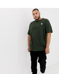 dunkelgrünes T-Shirt mit einem Rundhalsausschnitt von Good For Nothing