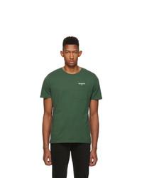 dunkelgrünes T-Shirt mit einem Rundhalsausschnitt von Harmony