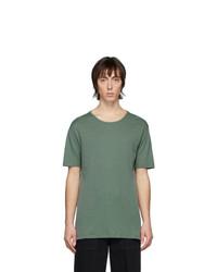 dunkelgrünes T-Shirt mit einem Rundhalsausschnitt von Lemaire