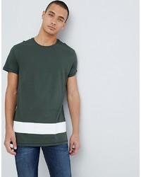 dunkelgrünes T-Shirt mit einem Rundhalsausschnitt von Pier One