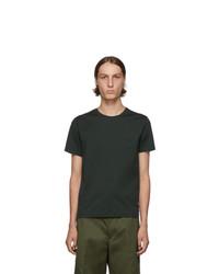 dunkelgrünes T-Shirt mit einem Rundhalsausschnitt von Prada