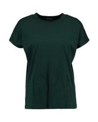 dunkelgrünes T-Shirt mit einem Rundhalsausschnitt von KIOMI