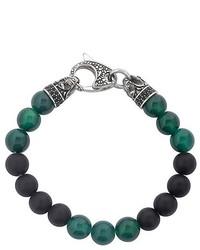 dunkelgrünes verziert mit Perlen Armband