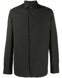 dunkelgrünes Wolllangarmhemd von Z Zegna