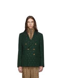 dunkelgrünes Zweireiher-Sakko von Gucci