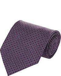 dunkellila bedruckte Krawatte