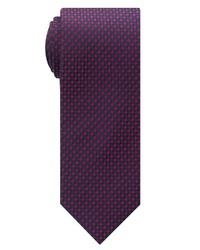 dunkellila bedruckte Krawatte von Eterna