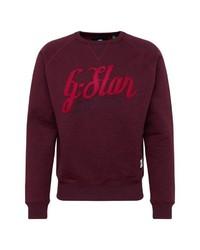 dunkellila bedrucktes Sweatshirt von G-Star RAW