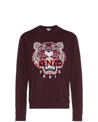 dunkellila bedrucktes Sweatshirt von Kenzo
