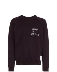 dunkellila bedrucktes Sweatshirt von Satisfy