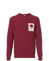 dunkellila besticktes Sweatshirt von Kent & Curwen