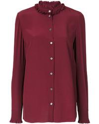 dunkellila Bluse mit Rüschen von Dolce & Gabbana