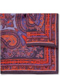 dunkellila Einstecktuch mit Paisley-Muster von Etro